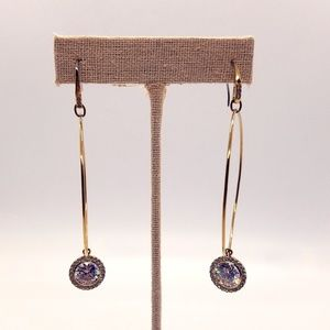Michael Kors Hoop Rhinestone Dangle Earrings
